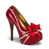 TEEZE-14 Red/White Patent